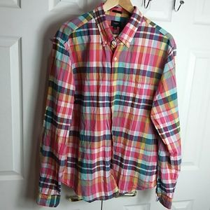 J. Crew Plaid Button Up Shirt Sz XL